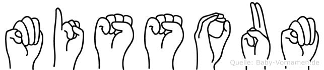 Missoum in Fingersprache für Gehörlose