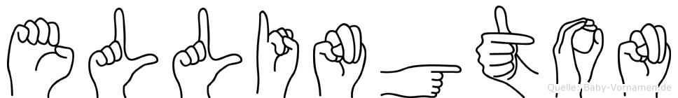 Ellington im Fingeralphabet der Deutschen Gebärdensprache