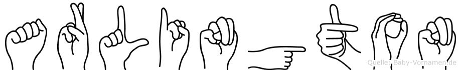Arlington in Fingersprache für Gehörlose