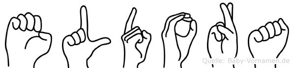 Eldora im Fingeralphabet der Deutschen Gebärdensprache