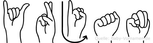 Yrjan in Fingersprache für Gehörlose