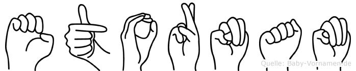 Etornam im Fingeralphabet der Deutschen Gebärdensprache