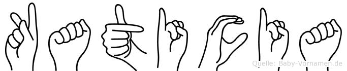 Katicia im Fingeralphabet der Deutschen Gebärdensprache