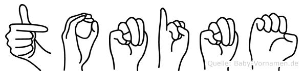 Tonine im Fingeralphabet der Deutschen Gebärdensprache