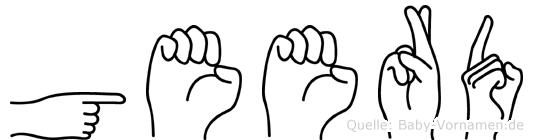 Geerd im Fingeralphabet der Deutschen Gebärdensprache