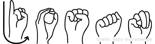 Josan im Fingeralphabet der Deutschen Gebärdensprache