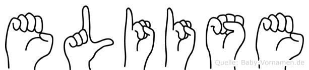 Eliise im Fingeralphabet der Deutschen Gebärdensprache