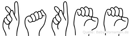 Kakee in Fingersprache für Gehörlose