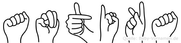 Antika im Fingeralphabet der Deutschen Gebärdensprache