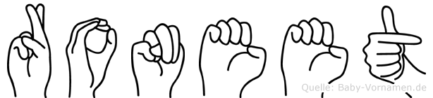 Roneet in Fingersprache für Gehörlose