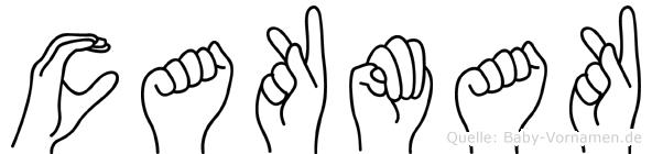 Cakmak im Fingeralphabet der Deutschen Gebärdensprache