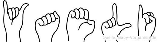 Yaeli in Fingersprache für Gehörlose