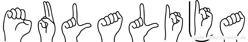 Eulalija in Fingersprache für Gehörlose