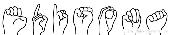 Edisona im Fingeralphabet der Deutschen Gebärdensprache