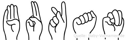 Bukan in Fingersprache für Gehörlose
