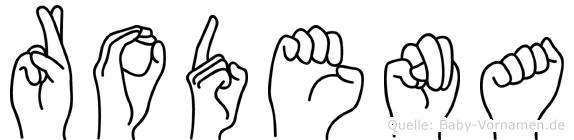 Rodena in Fingersprache für Gehörlose