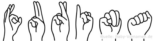 Furina in Fingersprache für Gehörlose