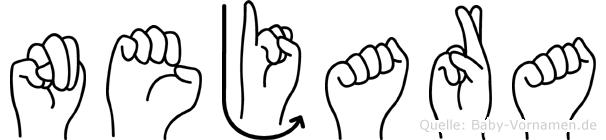 Nejara im Fingeralphabet der Deutschen Gebärdensprache