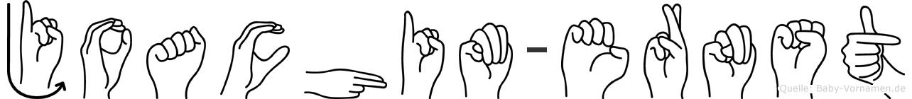 Joachim-Ernst im Fingeralphabet der Deutschen Gebärdensprache