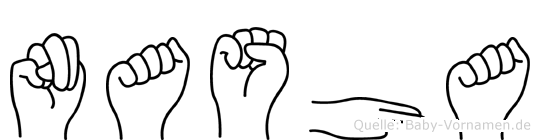 Nasha im Fingeralphabet der Deutschen Gebärdensprache