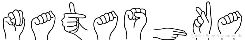 Natashka in Fingersprache für Gehörlose