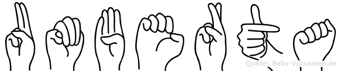 Umberta im Fingeralphabet der Deutschen Gebärdensprache
