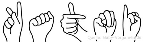 Katni in Fingersprache für Gehörlose