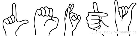 Lefty in Fingersprache für Gehörlose