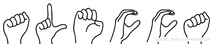 Alecca in Fingersprache für Gehörlose