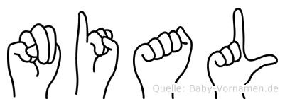 Nial im Fingeralphabet der Deutschen Gebärdensprache