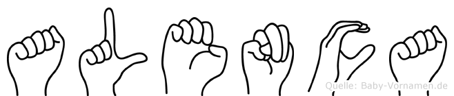 Alenca in Fingersprache für Gehörlose