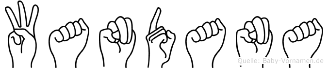 Wandana im Fingeralphabet der Deutschen Gebärdensprache