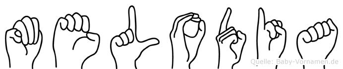 Melodia in Fingersprache für Gehörlose