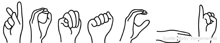 Komachi im Fingeralphabet der Deutschen Gebärdensprache