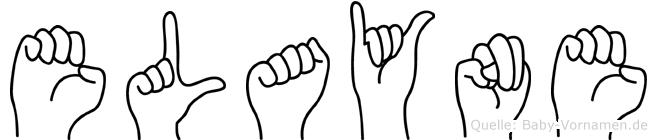 Elayne im Fingeralphabet der Deutschen Gebärdensprache