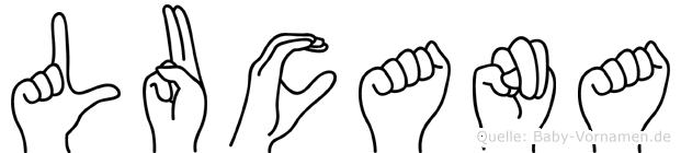 Lucana in Fingersprache für Gehörlose