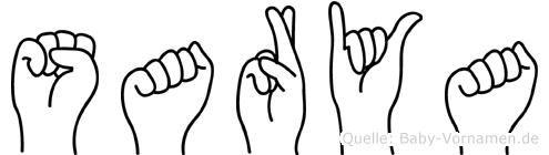 Sarya in Fingersprache für Gehörlose