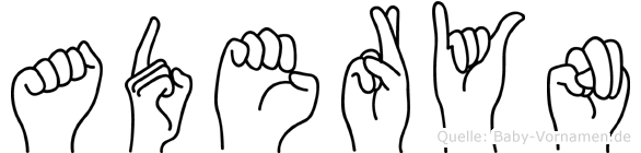 Aderyn im Fingeralphabet der Deutschen Gebärdensprache