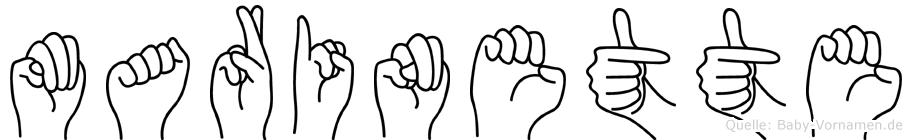 Marinette in Fingersprache für Gehörlose