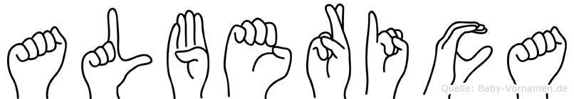 Alberica in Fingersprache für Gehörlose