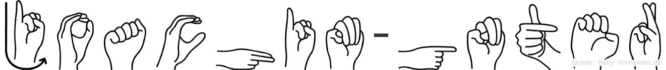 Joachim-Günter im Fingeralphabet der Deutschen Gebärdensprache