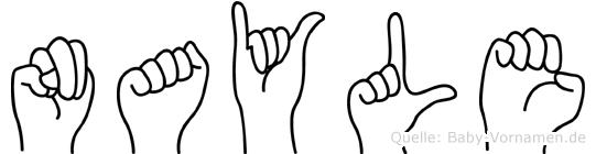Nayle in Fingersprache für Gehörlose
