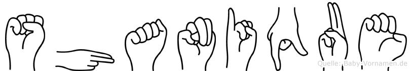 Shanique in Fingersprache für Gehörlose