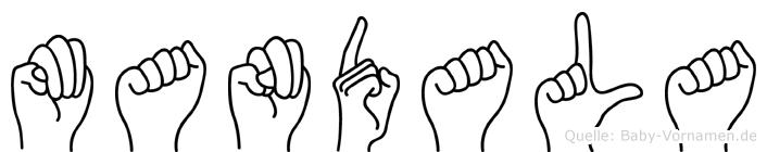 Mandala in Fingersprache für Gehörlose