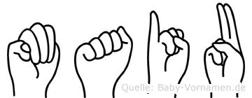 Maiu in Fingersprache für Gehörlose