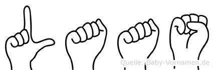 Laas im Fingeralphabet der Deutschen Gebärdensprache