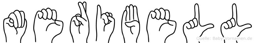 Meribell im Fingeralphabet der Deutschen Gebärdensprache