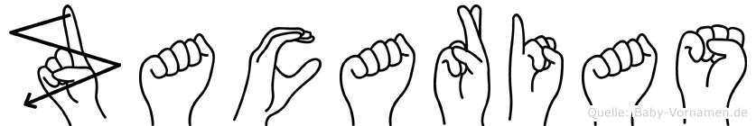Zacarias im Fingeralphabet der Deutschen Gebärdensprache