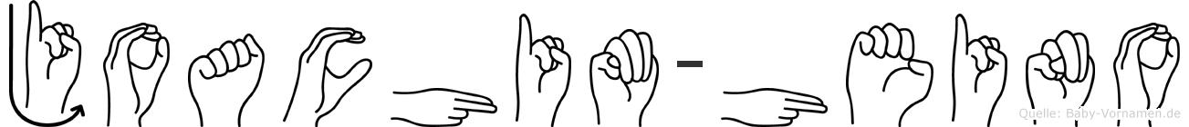 Joachim-Heino im Fingeralphabet der Deutschen Gebärdensprache