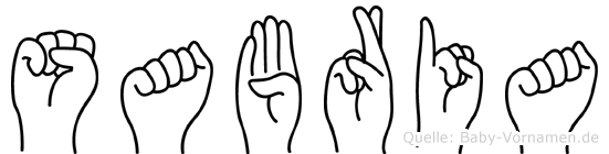 Sabria im Fingeralphabet der Deutschen Gebärdensprache